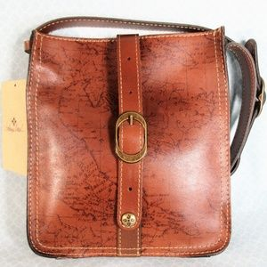 NWT Patricia Nash Leather Map Print Crossbody